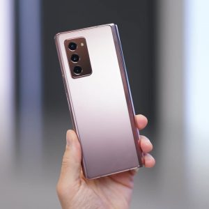 Moscow / Russia - 2020 September 2: Samsung announced a new Galaxy Z Fold2
