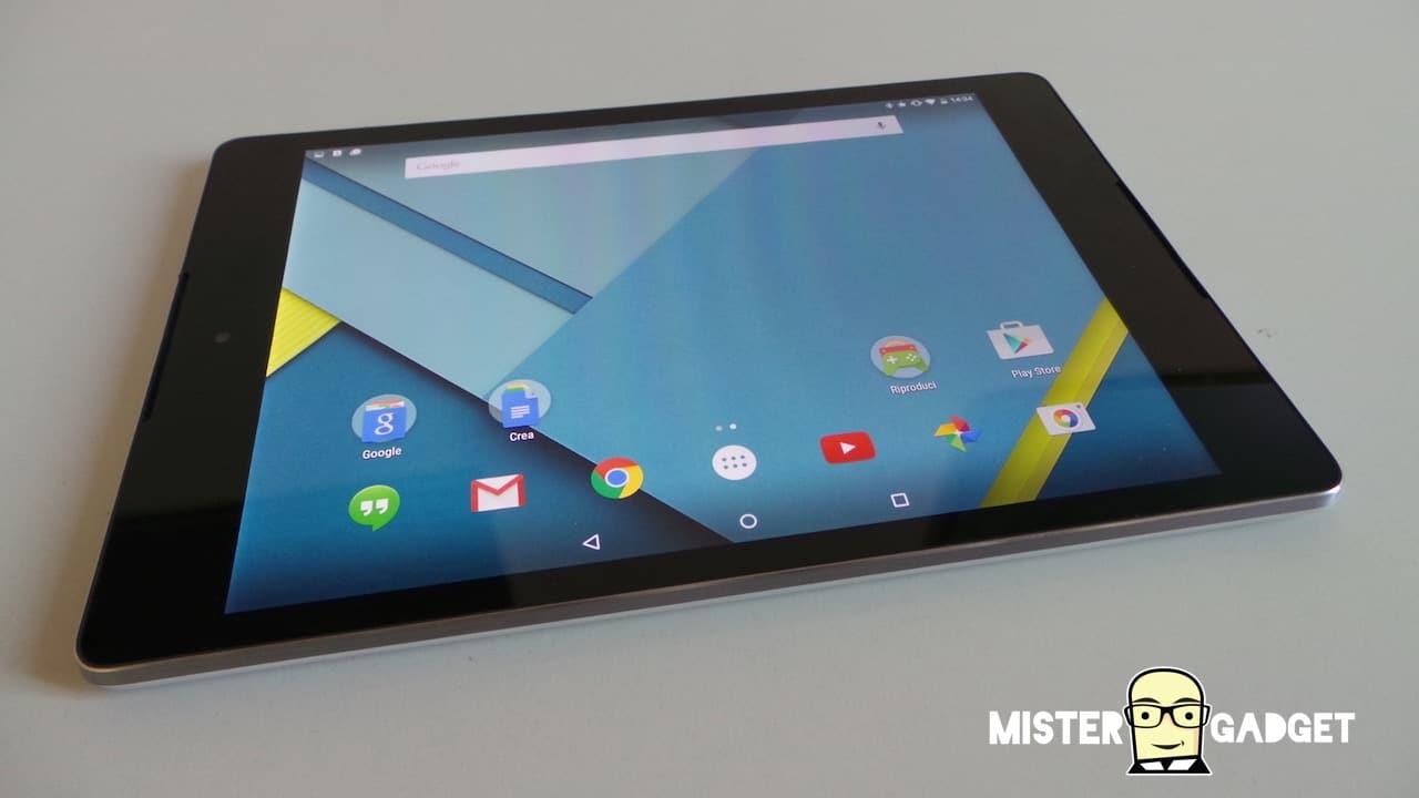 Nexus 9 in vendita da oggi