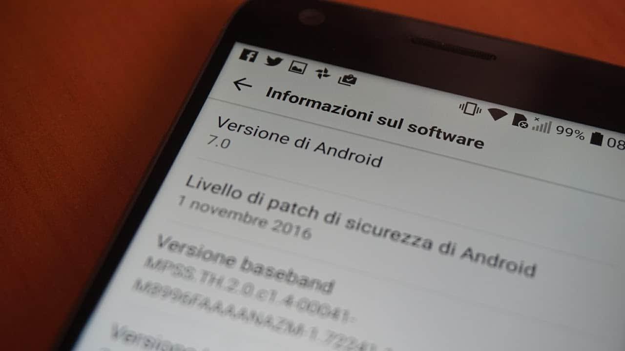 LG G5 si aggiornata ad Android 7.0, ma non per tutti