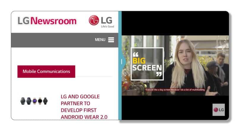 LG presenta la UX6 che sarà a bordo del nuovo G6