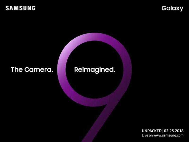 The camera. Reimagined. Lancio Samsung Galaxy S9 il 25 febbraio