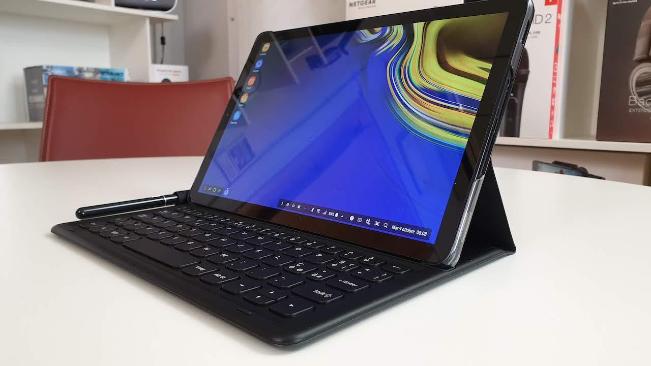 Samsung Galaxy Tab S4 con tastiera: può sostituire un PC?